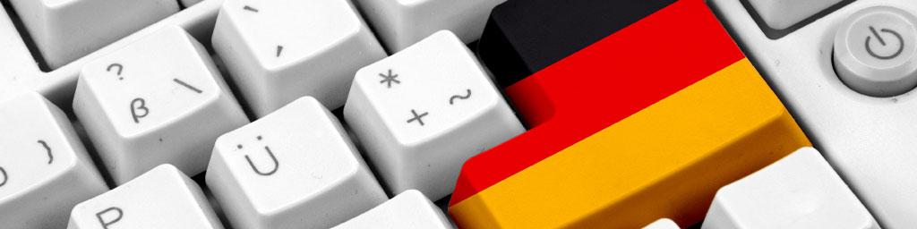Native Speaker Deutsch buchen bei Stimmenkartei - Deutsche Flagge auf der Enter-Taste